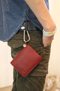 Interfool - Red Leather wallet