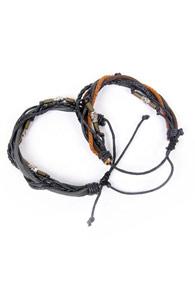 Leather Bracelet : Skull 2_Type