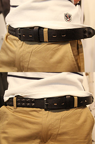 Bizzare 단독한정수입) Leather Stud Belt