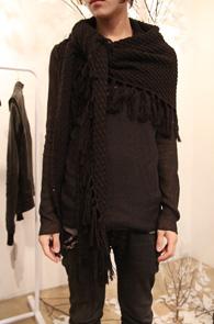 Black Knit Shawl