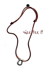 makenoise) Hoof necklace Brown