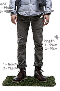 makenoise) ortega front zip-up pants