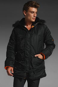 ALPHA INDUSTRIES 알파 N-3B<BR>BLACK <br>블랙컬러