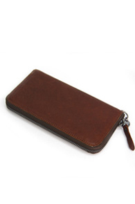 Interfool - Washing leather wallet<br>brown color