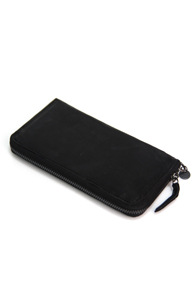 Interfool - Washing leather wallet<br>black color
