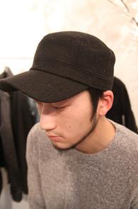 모직 블랙 워크캡<br>일본수출진행상품