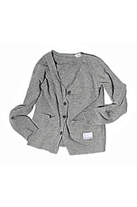 makenoise) Lambswool Cardigan GREY