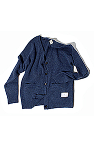 makenoise) Lambswool Cardigan BLUE