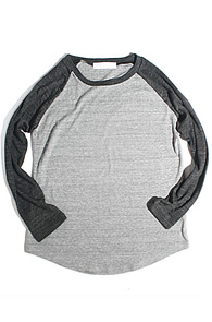 makenoise) basic sleeve raglan grey