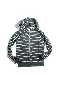 resonance) Stripe hood zip-up RG
