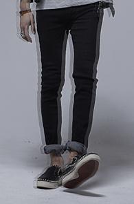 resonance) Black washing cotton Pants