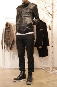 Simple Black Leather Jacket