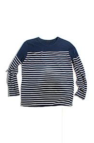 resonance) Stripe cotton knit NAVY