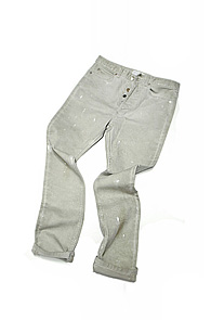 makenoise) dirty washing straight pants light grey
