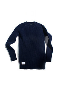 resonance) hand made wave knit Navy