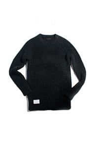resonance) hand made wave knit Grey