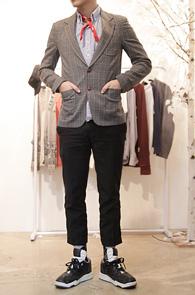 Grey Check Two Button Blazer