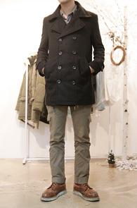 Black Basic Double P-Coat<br>심플한 디자인, 깔끔한 핏<br>한정 특가 세일