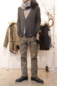 Dark Grey Washing Soft Cardigan<br>소프트한 소재, 워싱된 색감<br>레이어드에 유용