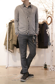 Grey Washing Soft Cardigan<br>소프트한 소재, 워싱된 색감<br>레이어드에 유용