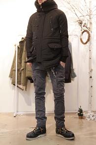 Black High Neck N3B Jacket<BR>변형 N3B 디자인, 하이넥 디자인<BR>뛰어난 방풍성, 보온성