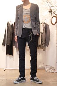 Grey None Lapel Blazer Jacket<br>그레이컬러, 논카라 디자인<br>라펠이 없는 독특한 블레이저