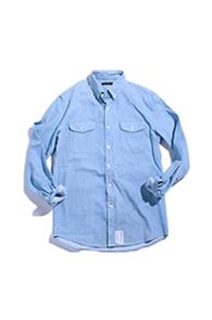 resonance)pocket denim shirts