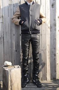 Simple Wool Baseball Jacket<br>울소재, 퀄팅처리<br>도톰한 두깨감의 모직 스타타디움자켓