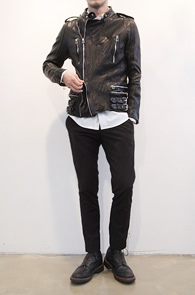 Sheep Skin Leather Biker Rider Jacket<br>리얼레더소재,쉽스킨 원단<br>높은 퀄리티의 쉽스킨 라이더자켓