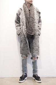 Wool Long Knit Double Coat<br>울소재, 그레이컬러<br>높은 퀄리티의 니트타입 더블코트