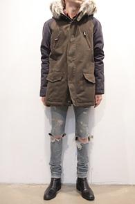 (Used) Khaki Coloration Long Jacket