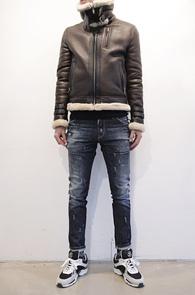 Brown Real Leather Mouton Jacket<BR>리얼 램스킨 소재, 천연 양모 안감<BR>고퀄리티의 프리미엄 무스탕자켓<BR><font color=#CC9933>MD의 추천 상품