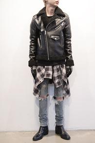 Black Rider Type Leather Mouton<BR>라이더타입, 페이크 레더소재<BR>뛰어난 보온성의 무스탕자켓