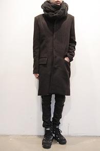 Single Black Wool Coat<br>숏카라 싱글 코트<br>깔끔한 실루엣의 슬림코트