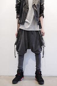 (Used) Grey Side Pocket Baggy Pants