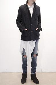 Navy Kint Blazer Jacket<br>니트소재, 블레이저 디자인<br>가디건같은 느낌의 블레이저 자켓
