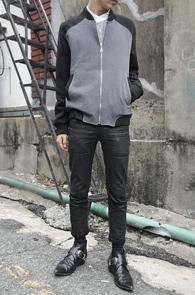 Grey Coloration Zipup Cotton Jacket<br>코튼소재, 배색디자인<br>깔끔한 디자인과 핏의 블루종