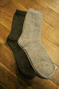 2 Color Wool Socks Pack