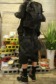 Black Outdoor Backpack