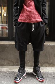 Black Leggins Layered Pants<br>블랙컬러의 레깅스 레이어드<br>편안한 착용감의 레깅스 팬츠