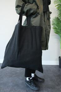 2 Color Cotton Tote Bag<br>블랙과 그레이 두가지 컬러<br>수납공간이 넓은 코튼토트백