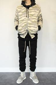 Beige Camo Double Zipper Jacket<br>다이마루 코튼 원단<br>카모패턴의 MA-1 자켓