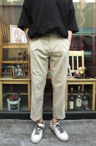 Beige Wide Slacks Pants<br>베이지 와이드 카브라 슬랙스<br>편한 착용감,와이드한 실루엣