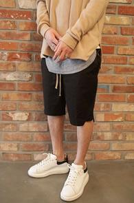 Black Back-zip Baggy Pants<br>블랙 백 지퍼 배기팬츠<br>베이직한 실루엣 편안한 착용감