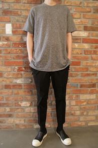 Grey Slab T-shirts<br>그레이 슬랍 티셔츠<br>롱티셔츠 옆트임,레이어드시 높은 활용도