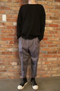 Black Washed Waffle T-shirts<br>워싱 와플 티셔츠<br>밑단 시보리,간편한 코디감