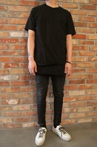 xxx Layered Set (T-shirt+Sleeveless)<br>레이어드 세트(티+나시)<br>레이어드 스타일,베이직한 컬러감