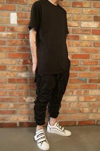 Black Slab T-Shirts<br>블랙 슬랍 티셔츠<br>롱티셔츠 옆트임,레이어드시 높은 활용도