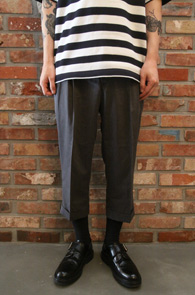 Grey Banding Slacks Pants<br>7부 그레이 밴딩 슬랙스<br>밑단 턴업,편안한 착용감