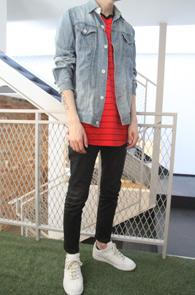 Red Basic Stripe T-Shirts<br>스트라이프 패턴,코튼소재<br>기본에 충실한 박스핏 단가라